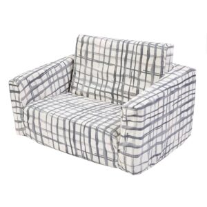 Swedish Check Marmalade Lion Toddler Couch Cover