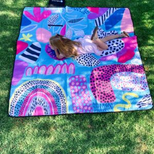 Out + About Bebe Rainbow Pop Picnic Rug