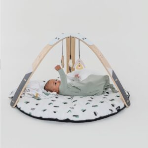 Activity Centres + Walkers PRE ORDER | By Sofie Little Hoppa® 2-in-1 Mono Mountains. Baby Gym & Bouncer.