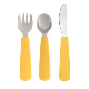 Toddler Cutlery Set in Yellow